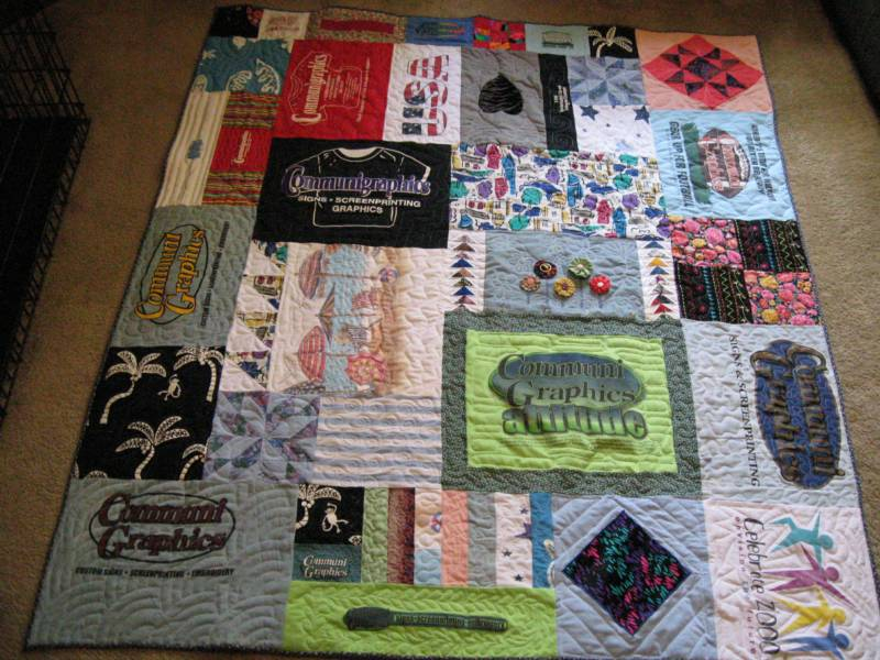 Tshirt Quilts And Memory Blankets